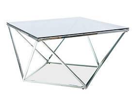 Столик журнальный Signal Silver A / Дымчатое стекло / хром