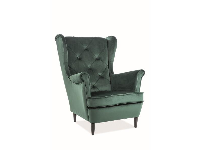 Мягкое кресло Signal Lady Velvet / Зеленый / Венге