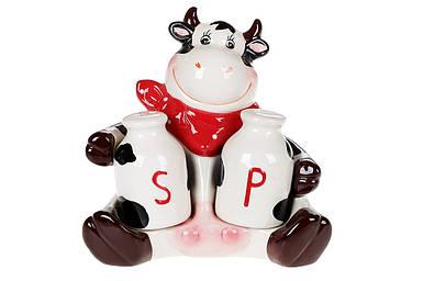 Набор для специй фигурный Веселая коровка: солонка и перечница