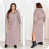 Платье женское ангора длинное с капюшоном размеры:48-50,52-54,56-58,60-62,64-66, фото 4