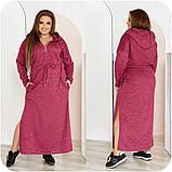 Платье женское ангора длинное с капюшоном размеры:48-50,52-54,56-58,60-62,64-66, фото 5