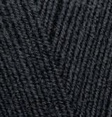 Турецкая пряжа Alize Lanagold 800 для ручного вязания полушерсть черный №60