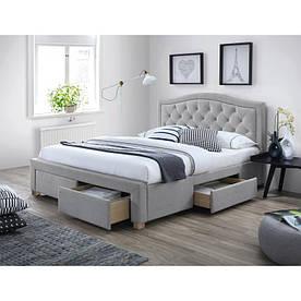 Кровать Signal Electra / 140х200 / Серый / Дуб