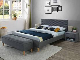 Ліжко Signal Azurro / 160X200 / Сірий (Tap. 23) AZURRO160SZ