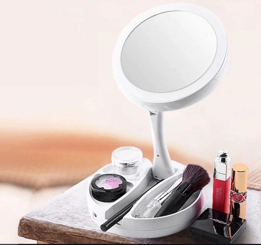 Зеркало для макияжа Foldaway mirror с подсветкой
