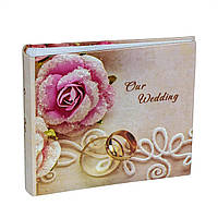 Фотоальбом Love13х18см. на 100 фотографий с местом для записей , свадебный, ламинированный