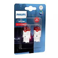 "Светодиод 12V  (бесцок.) W21/5 ""Philips"" (11066U30RB2) LED Red Ultinon Pro3000 (2шт.блист.)"