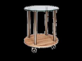 Барний столик Signal Carla / Дуб сонома / хром CARLA