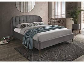 Кровать Signal Liguria Velvet / 160х200 / Серый