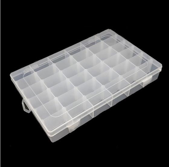 Коробка органайзер кейс бокс для снастей бисера 270х175х45мм 18 ячеек