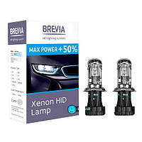 "Лампа Ксенон  H4 5500K 35W ""Brevia"" 12450MP +50% MaxPower (2шт)"