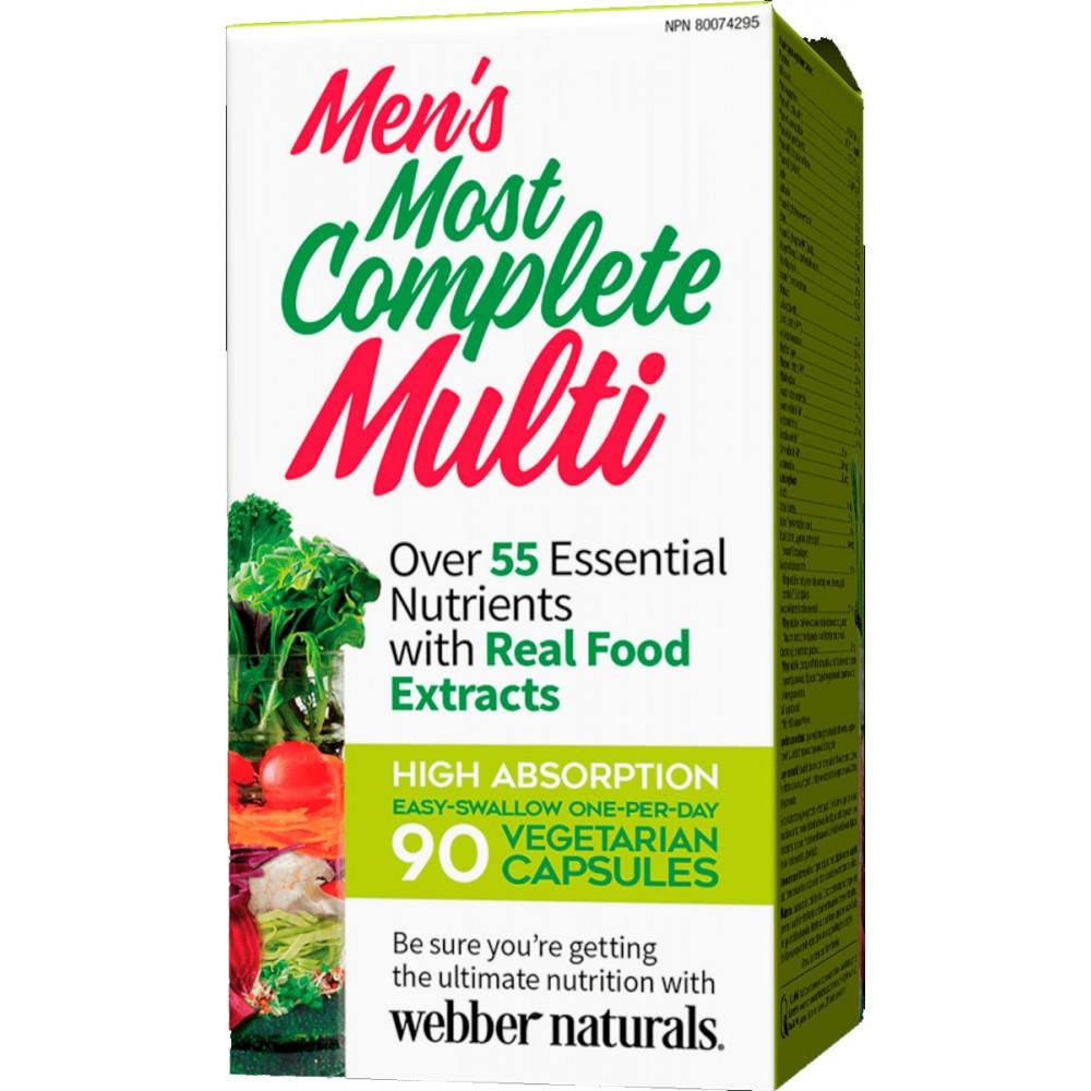 Витамины для мужчин Webber Naturals - Mens Most Complete Multi (90 caps)