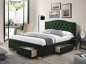 Ліжко Signal Electra Velvet / 160х200 / Зелений / Дуб ELECTRAV160Z