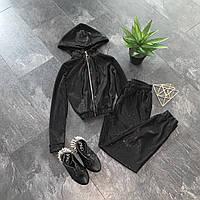 Блискучий люрексовый костюм-двійка з капюшоном, фото 1