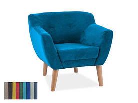 М'яке крісло Signal Bergen 1 / Бірюзовий (Tap. 1612) BERGEN11612