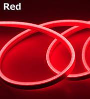 Лента - Силикон  LED Neon - 12v 25см красная гибкая (боковое свечение/шир.12мм/выс. 6мм)