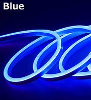 Лента - Силикон  LED Neon - 12v 25см синяя гибкая (боковое свечение/шир.12мм/выс. 6мм)
