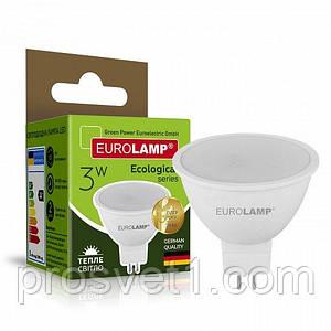 Светодиодная лампа EUROLAMP LED SMD MR16 3W GU5.3 3000K 220V