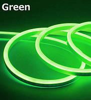 Лента - Силикон  LED Neon - 12v 50см зеленая гибкая (боковое свечение/шир.12мм/выс. 6мм)