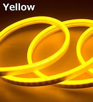 Лента - Силикон  LED Neon - 12v1м желтая гибкая (боковое свечение/шир.12мм/выс. 6мм)