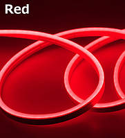 Лента - Силикон  LED Neon - 12v1м красная гибкая (боковое свечение/шир.12мм/выс. 6мм)