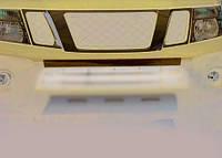 Накладка на передний бампер (нерж.) Nissan Navara 2006-2015 гг. / Защитные (хром) накладки на бампер Ниссан