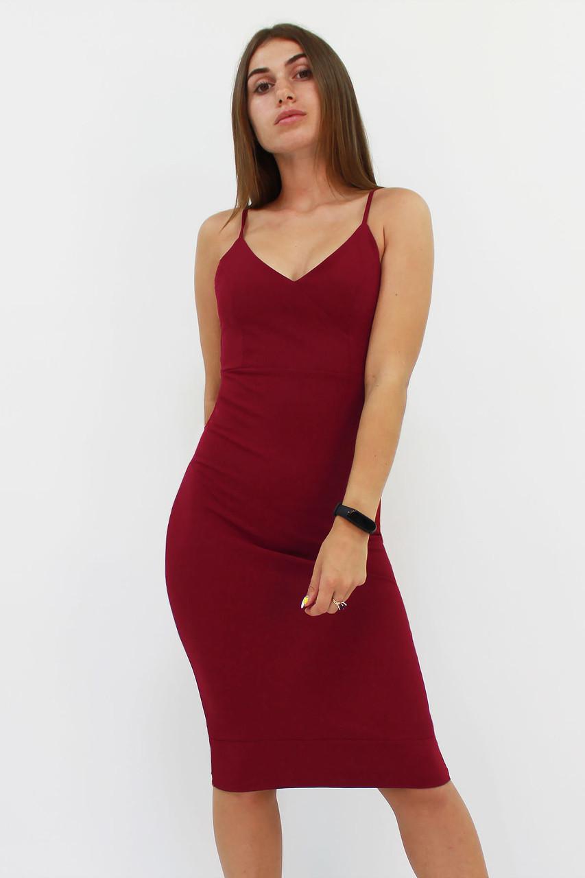 Коктейльне женское плаття Balis, марсала