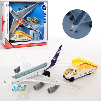 Аэропорт, самолет-инерционный, звук, свет, машина-трап, 747-30A, фото 2