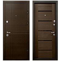 Двері Вхідні Квартирні - ПК-180/161 ЕЛІТ Венге горизонт темний/Царга Венге