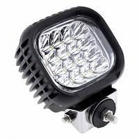 Рабочий фонарь квадрат 125x110 48W (3W*16) 10-30V  Дальний/Spot (22-48W) (1шт)   2706
