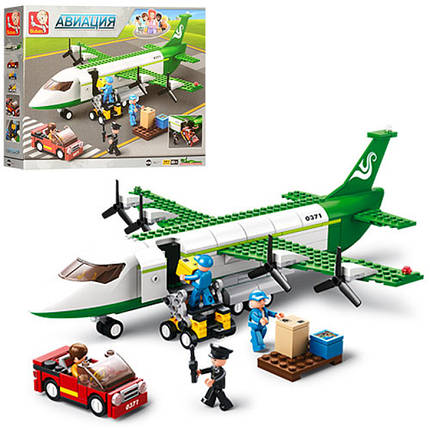 Конструктор SLUBAN авиация, самолет, машинка, фигурки, M38-B0371, фото 2