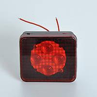 """Задний фонарь  универс. квадратный LED/RED 85х75мм """"Wassa"""" Ф-460L (прицепа)"""