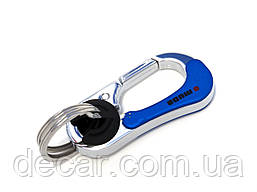 Брелок на ключі карабін метал 3746 Синій або Червоний - хром (3372)