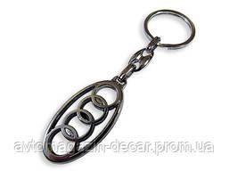 Брелок для ключей  Audi  металл/хром