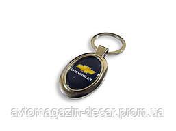 Брелок для ключей  Chevrolet  металл/овал