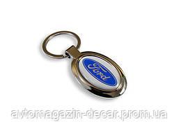 Брелок для ключей  Ford  металл/овал