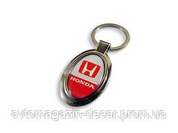 Брелок для ключей  Honda  металл/овал