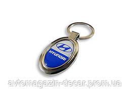 Брелок для ключей  Hyundai  металл/овал