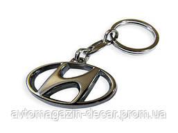Брелок для ключей  Hyundai  металл/хром