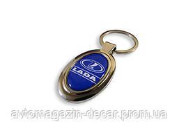 Брелок для ключей  Lada  металл/овал