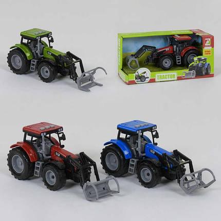 Трактор інерційний, 3 види, світло, звук, 550-48J, фото 2