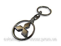 Брелок для ключей  Mitsubishi  металл/хром