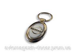 Брелок для ключей  Nissan  металл/овал
