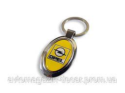 Брелок для ключей  Opel  металл/овал