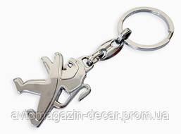 Брелок для ключей  Peugeot  металл/хром