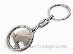 Брелок для ключей  Skoda  металл/хром
