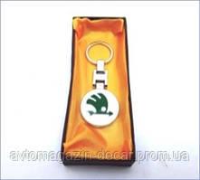Брелок для ключей  Skoda  металл/цветной в коробке   2 209