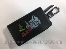 """Чехол для ключей с карабином """"Dakar 4x4""""  кожа твердая   3282"""