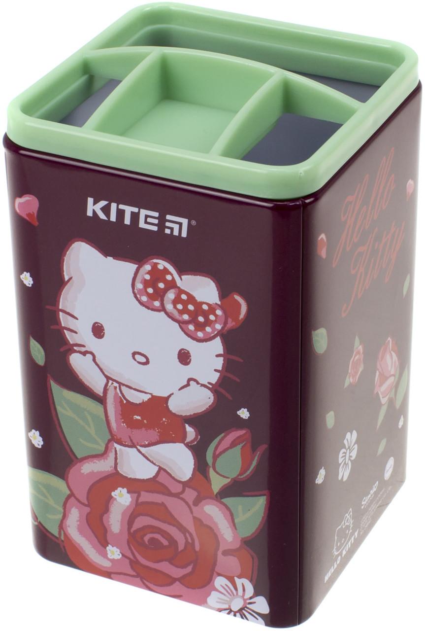 "Стакан для ручок ""Kite"" №HK19-105 квадр. Hello Kitty(12)"