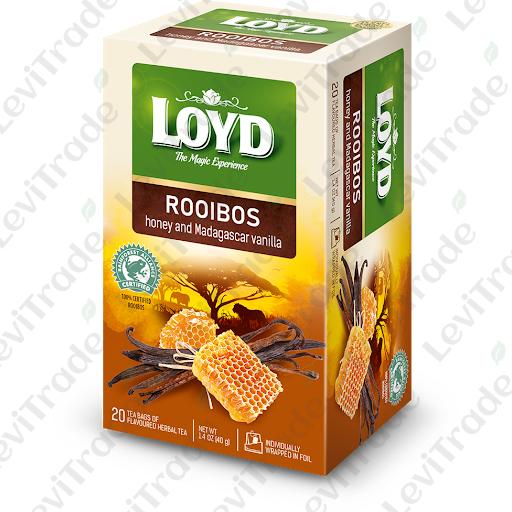 Чай ройбуш LOYD з медом та ваніллю 40г (20пак.), 8шт/ящ